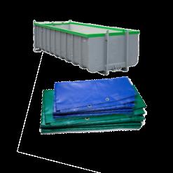 PVC cargo containerzeilen