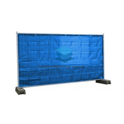 Blauw winddoorlatend bouwhekdoek 176x341cm 150gr