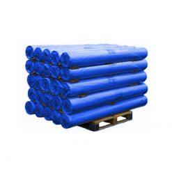 PE doek op rol, afdekzeil, bouwzeil, 2x100m, kleur blauw, 150gr
