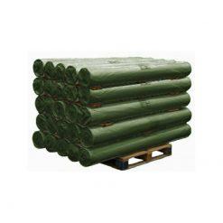 PE doek op rol, dekzeil, afdekzeil, bouwzeil, 2x100m, kleur groen, 150gr