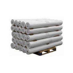 PE doek op rol, afdekzeil, bouwzeil, 2x100m, kleur wit, 75gr.