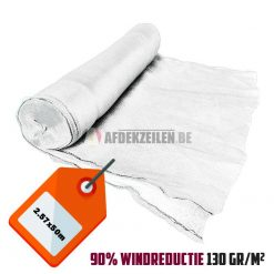 Wit steigernet 2.57x50m 130gr/m² 90% windreductie